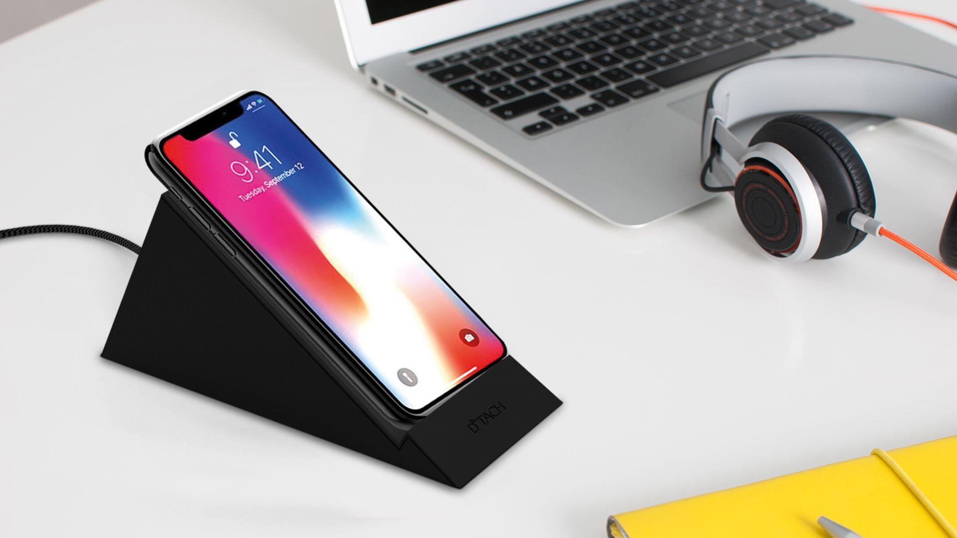Stående Trådlös laddare för iPhone 8, X, 11