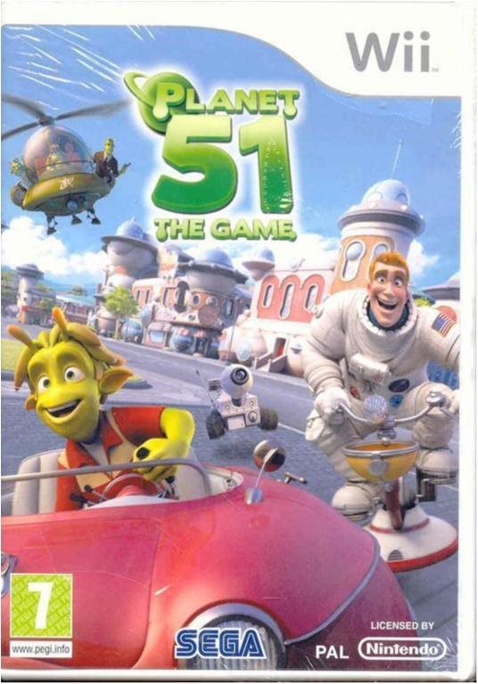 PLANET 51 THE GAME  (INPLASTAT  WII SPEL)