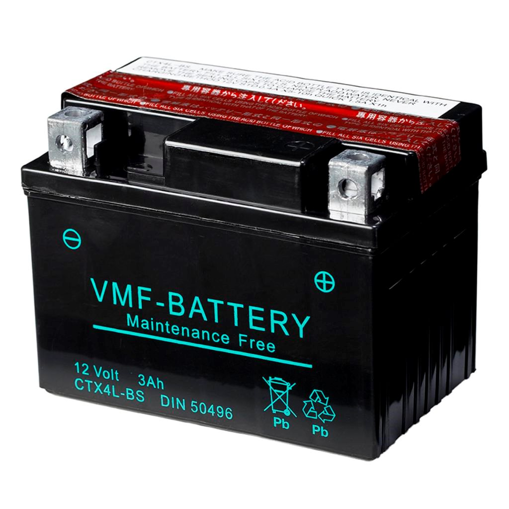VMF Powersport Liquifix Batteri 12 V 3 Ah MF YTX4L-BS