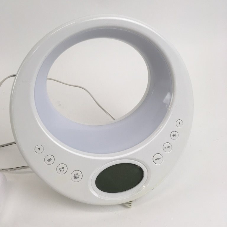 digital väckarklocka vit