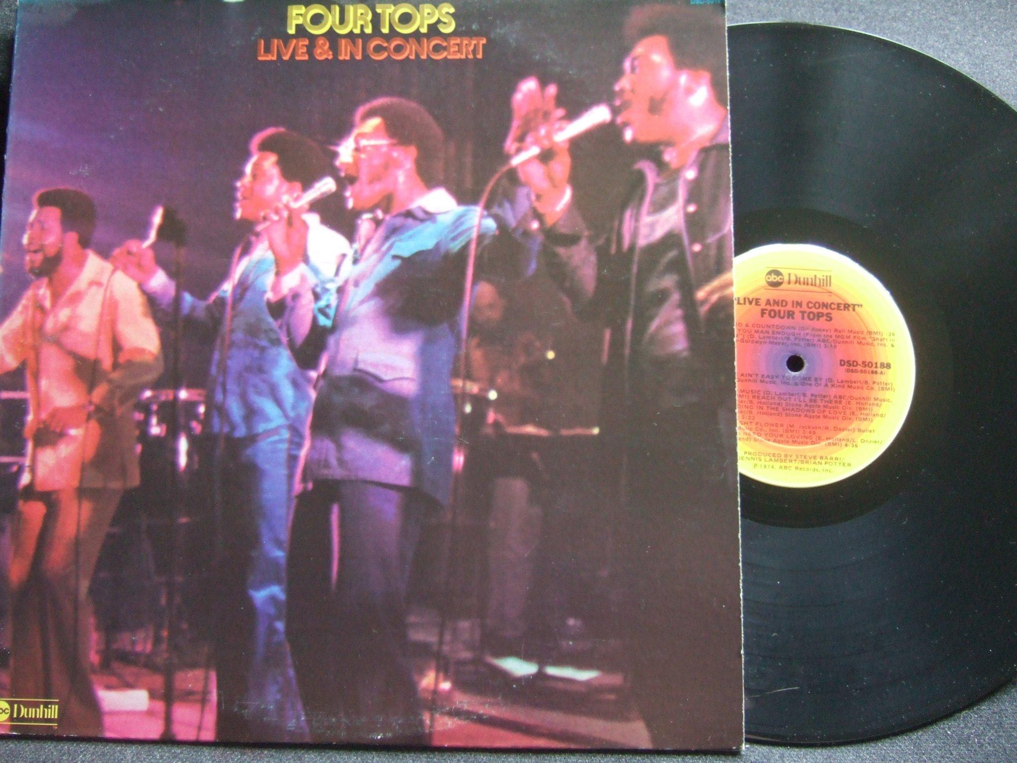 LP - FOUR TOPS  Live & In Concert  1974 (349251284) ᐈ Köp