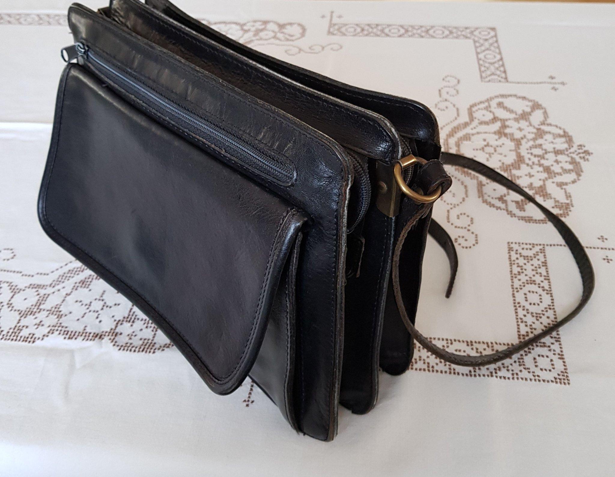 Retro väska vintage,axelremsväska av skinn My l.. (401974147