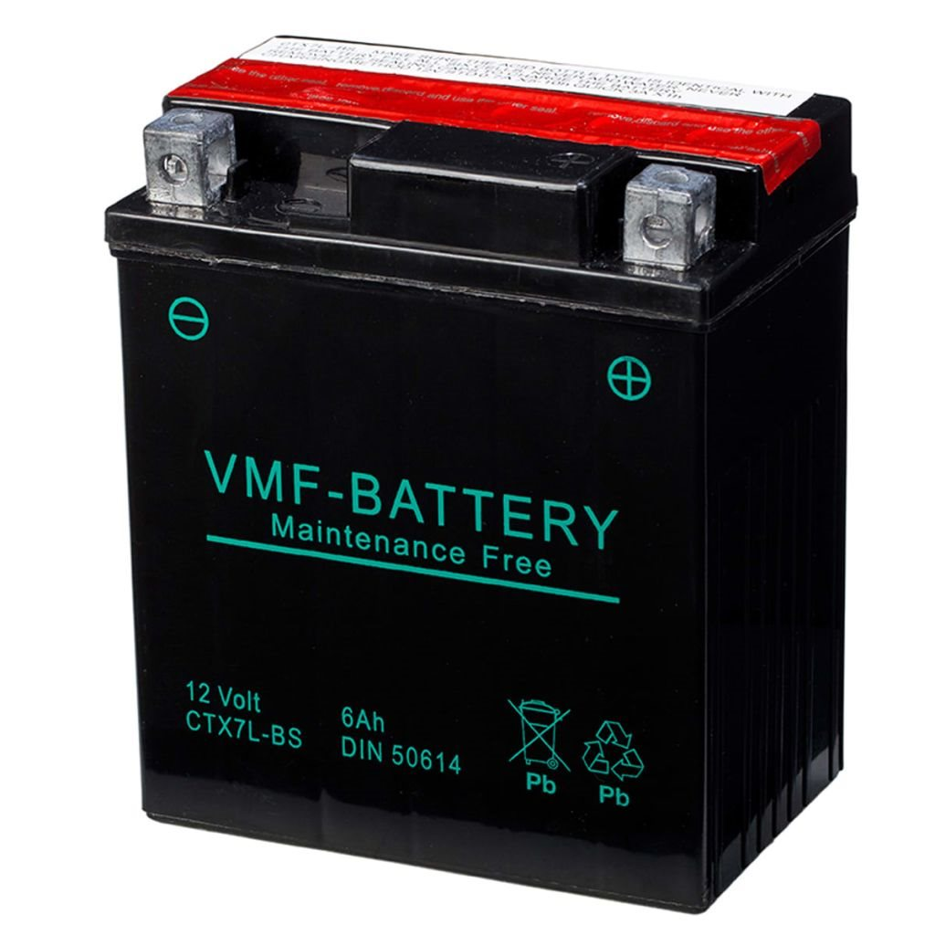 VMF Powersport Liquifix Batteri 12 V 6 Ah MF YTX7L-BS