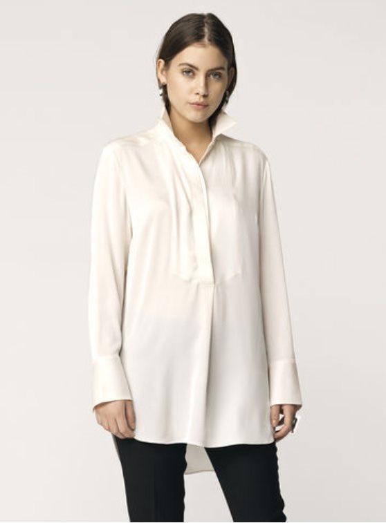 Vit sidenskjorta från by Malene Birger (322582394) ᐈ Köp på Tradera 5c92b9ab15d6d
