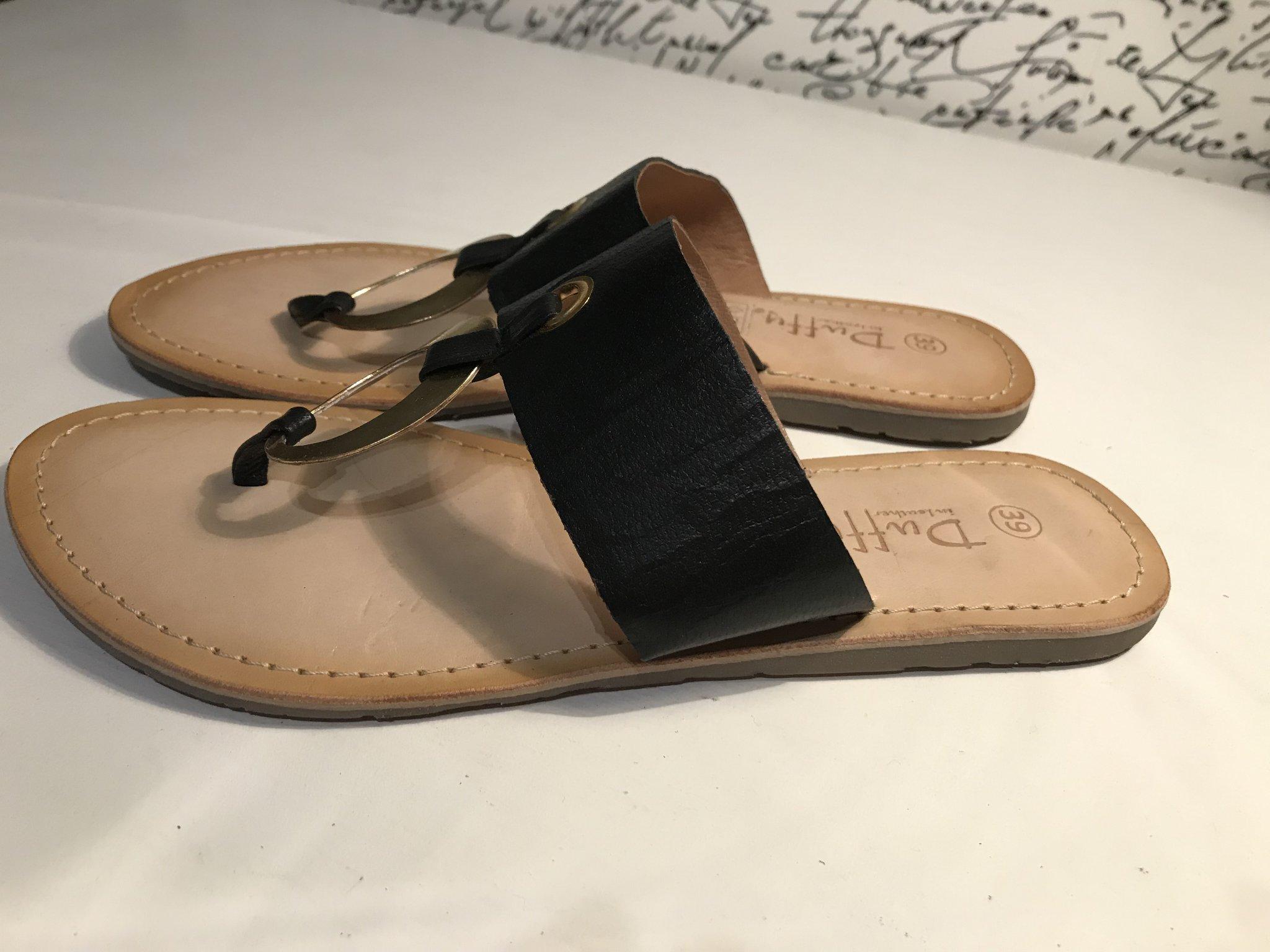 186fbe1f7f1 Nya flip flops, skinn sandaler Duffy i storlek .. (345943734) ᐈ Köp ...