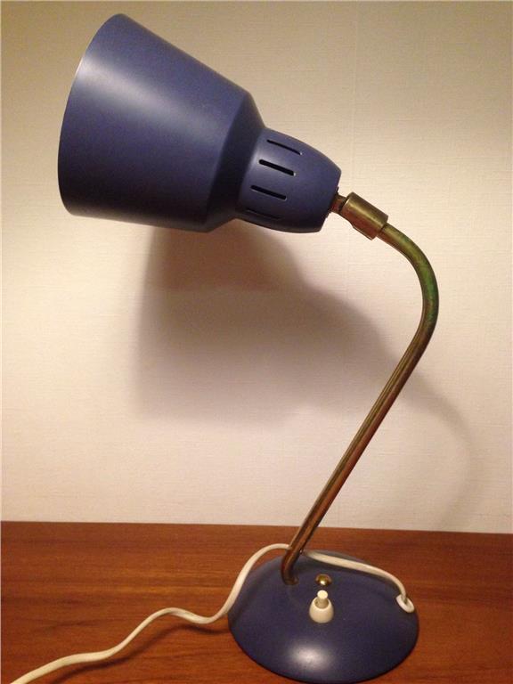 Vägglampa - Bordslampa - Retro - Industri - 60-70-tal - Mässing - Plåt