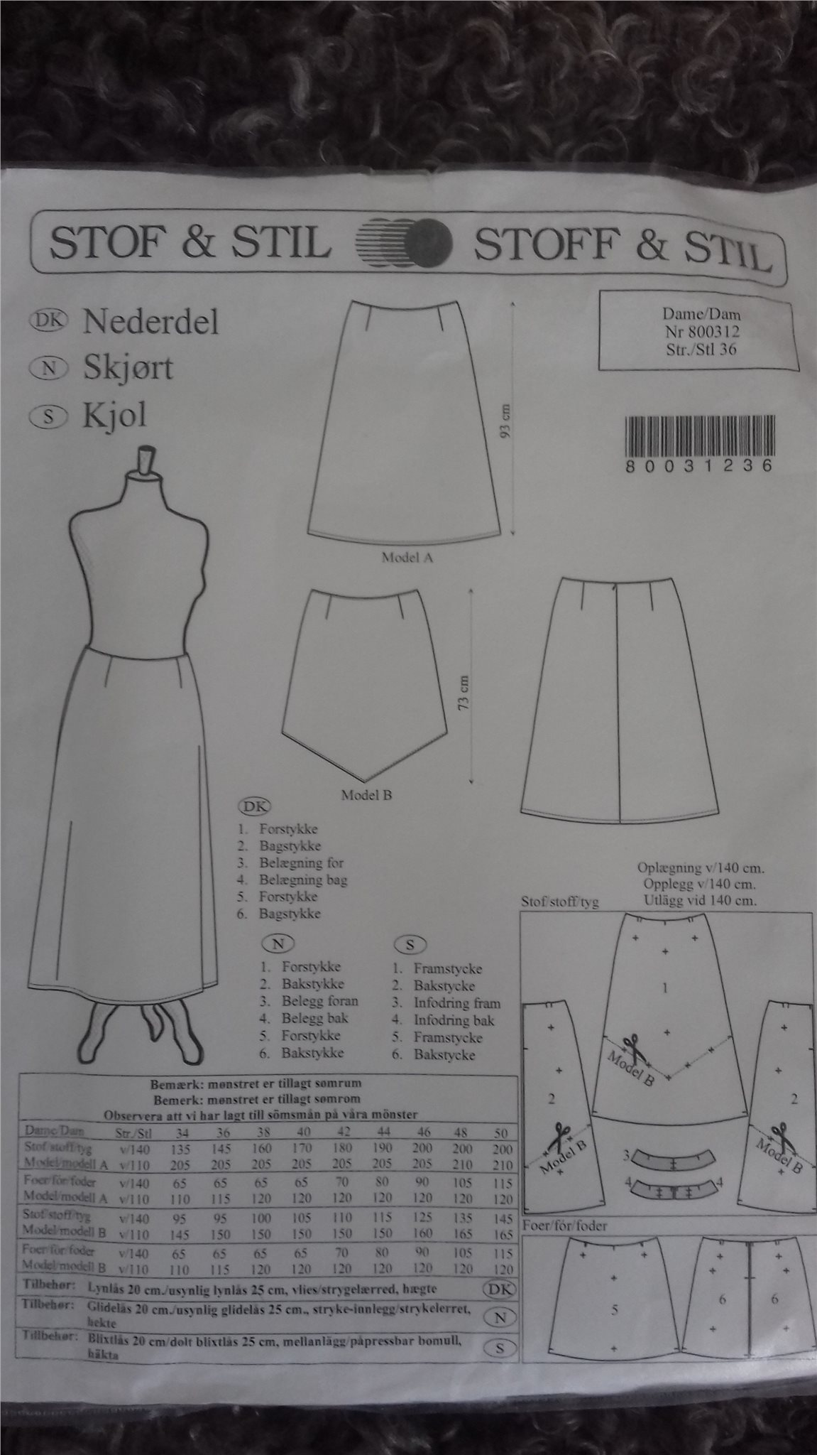 dd8c20c08c93 Klädmönster från Stoff o stil (347124345) ᐈ Köp på Tradera