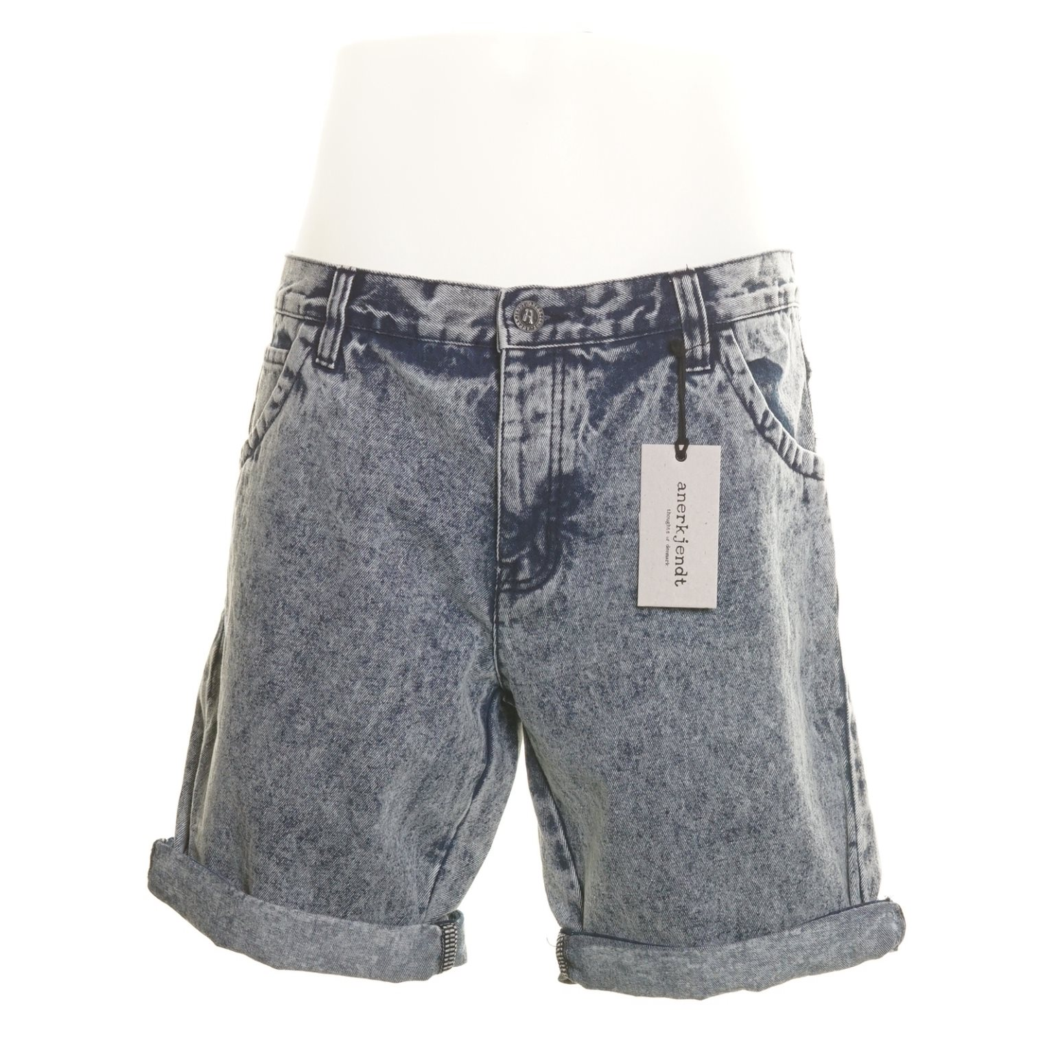 Anerkjendt, Jeansshorts, Strl: L, Mate Shorts, Ljusblå/Blå