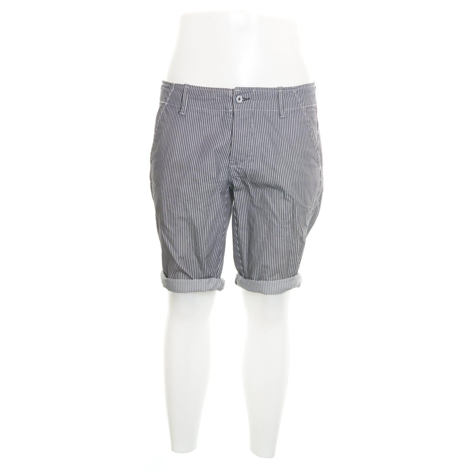 NN07, Shorts, Strl: S/M, Mörkblå/Vit