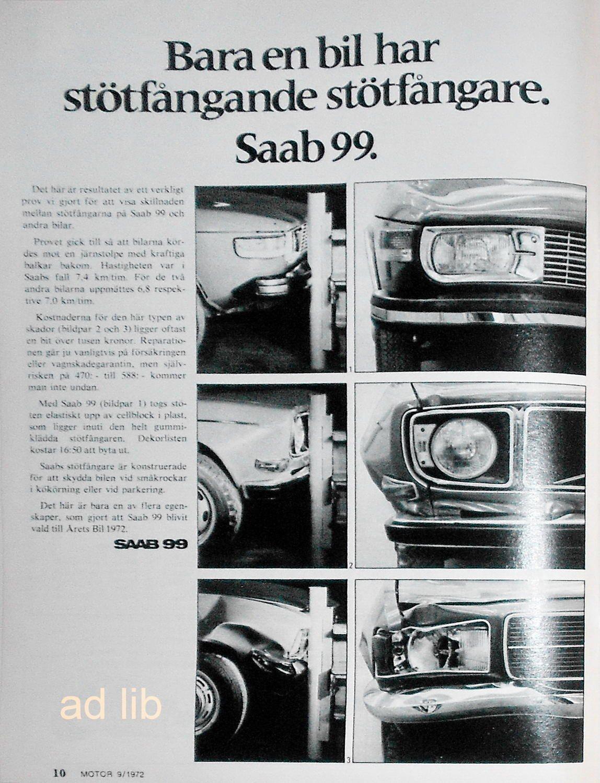 SAAB 99 - STÖTFÅNGANDE STÖTFÅNGARE ec6a5e1879308