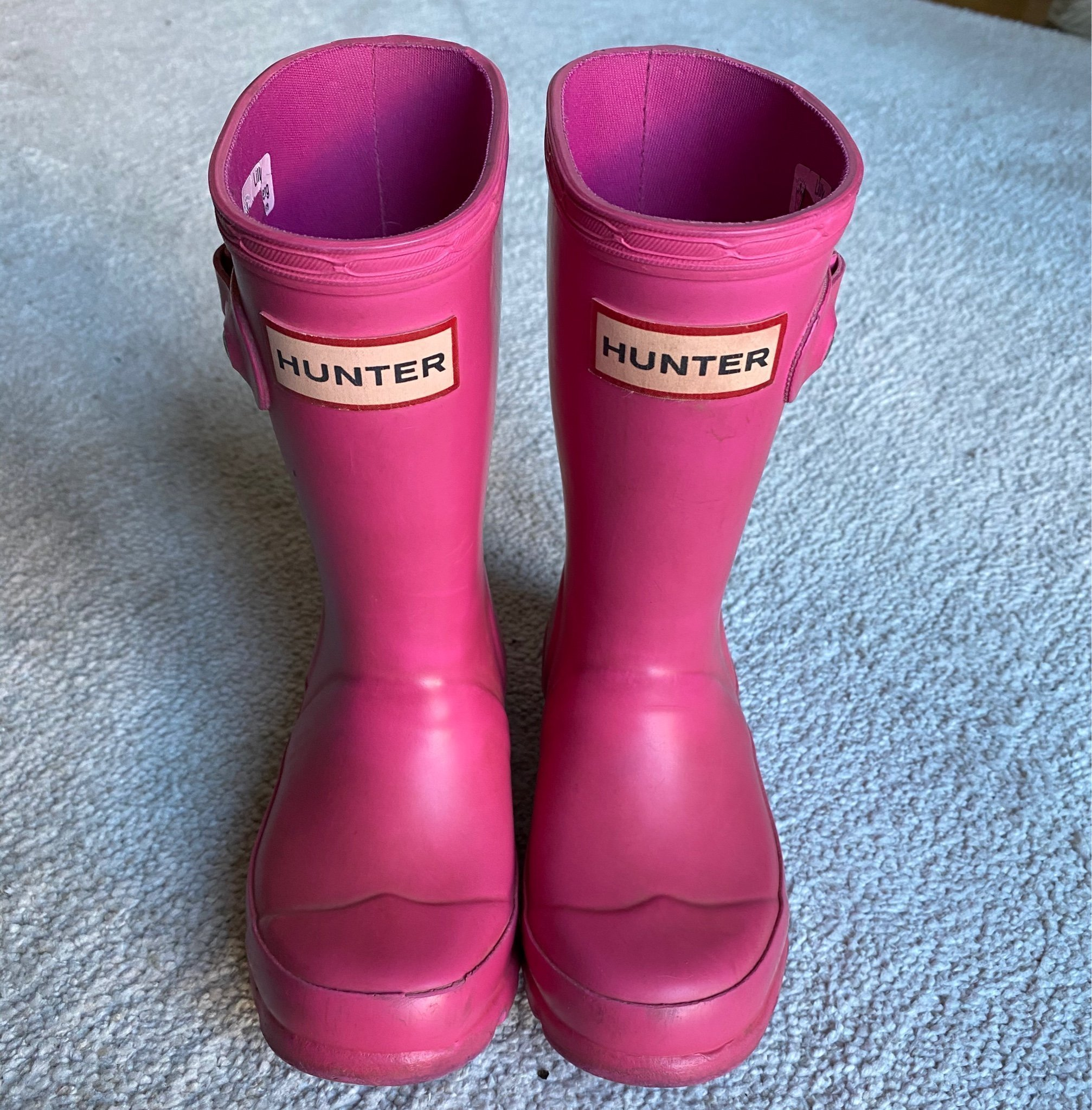 Hunter gummistövlar rosa barn storlek 25 (408843960) ᐈ Köp