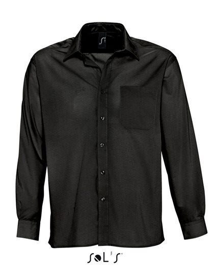 Poplinskjorta Poplinskjorta Poplinskjorta Svart, storlek 3XL c38866