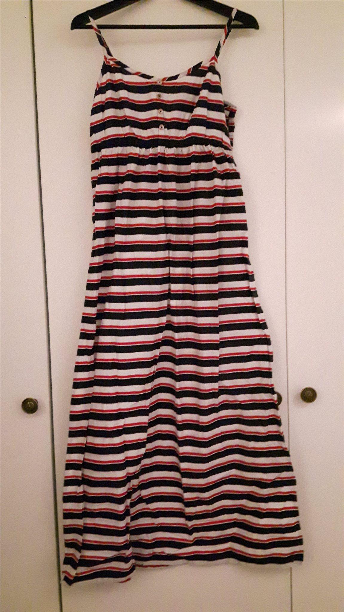 d51bddf4f64b Randig långklänning stl 40/42 (343415990) ᐈ Köp på Tradera
