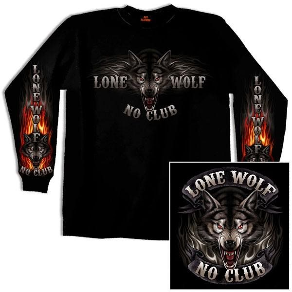Lone Wolf No Club Långärmad T-shirt T-shirt T-shirt XL a995ba