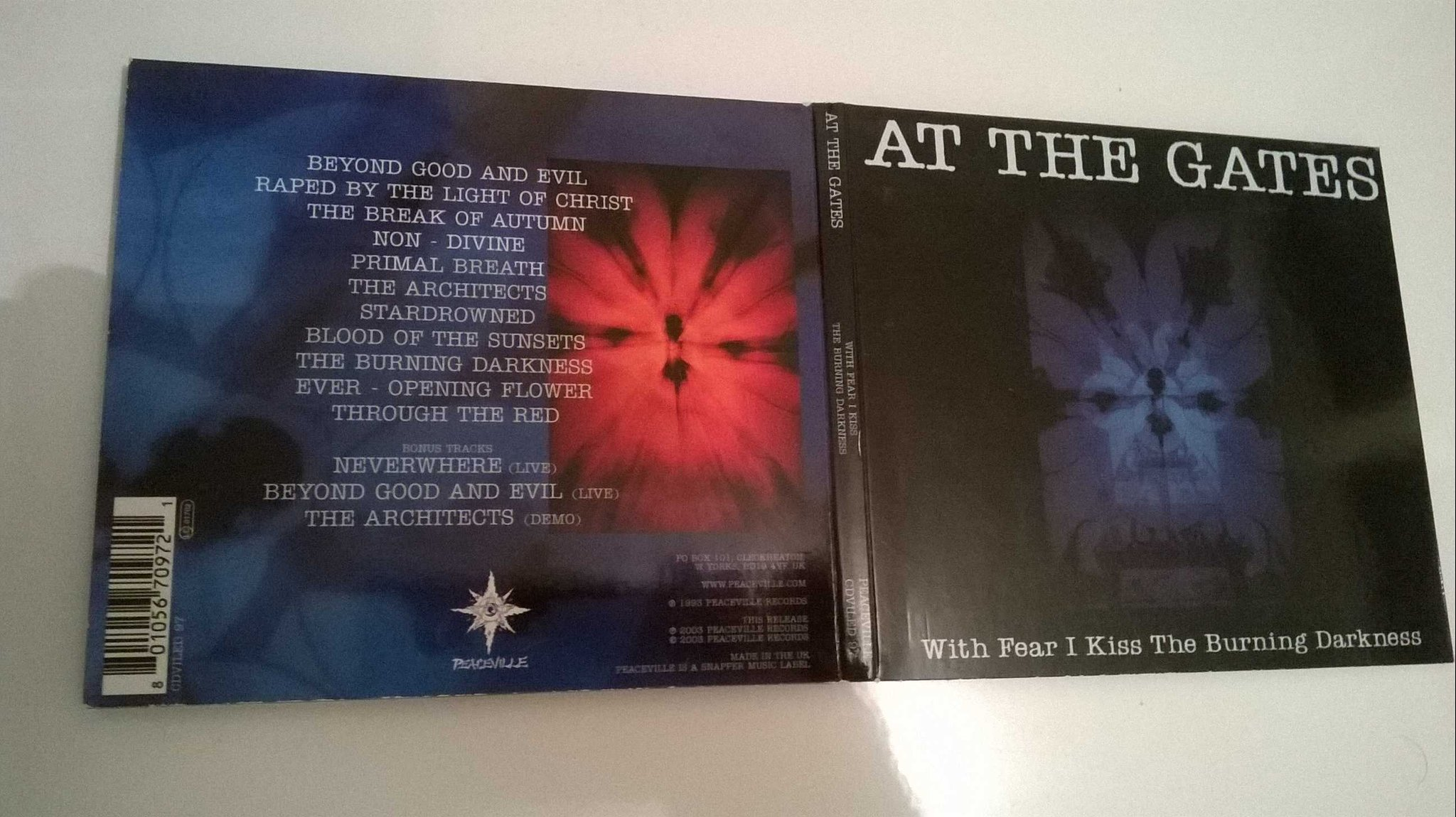 At The Gates - With Fear I Kiss The Burning Darkness, CD