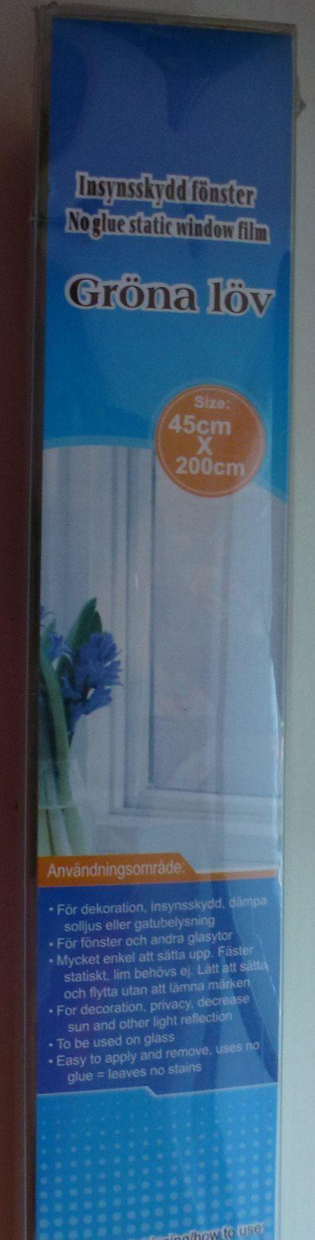 Insynsskydd för fönster - frostad med gröna blad på Tradera.com ...