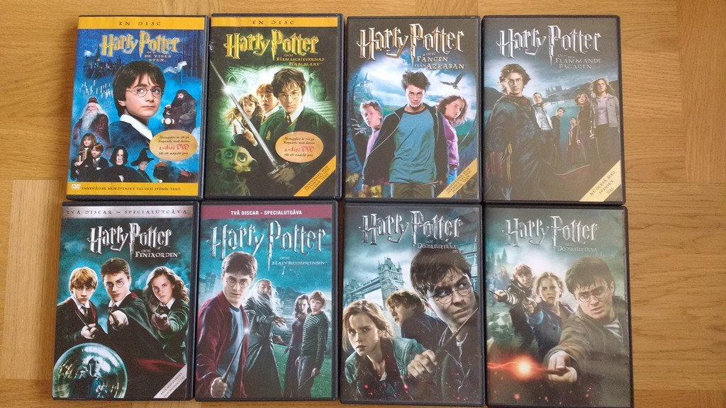 harry potter samling dvd