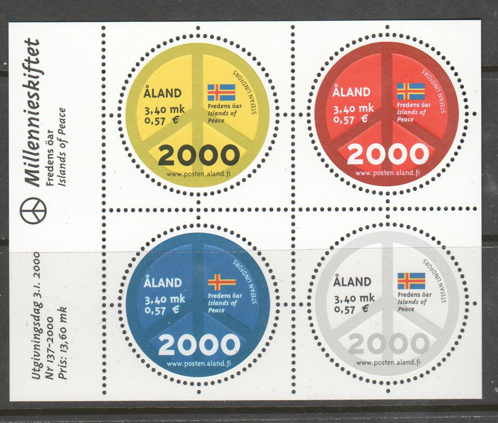 Aland Block 4 ** 2000 Aland Briefmarken