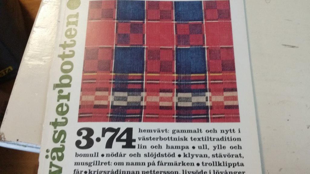 bok HANTVERK 1974  VÄSTERBOTTEN