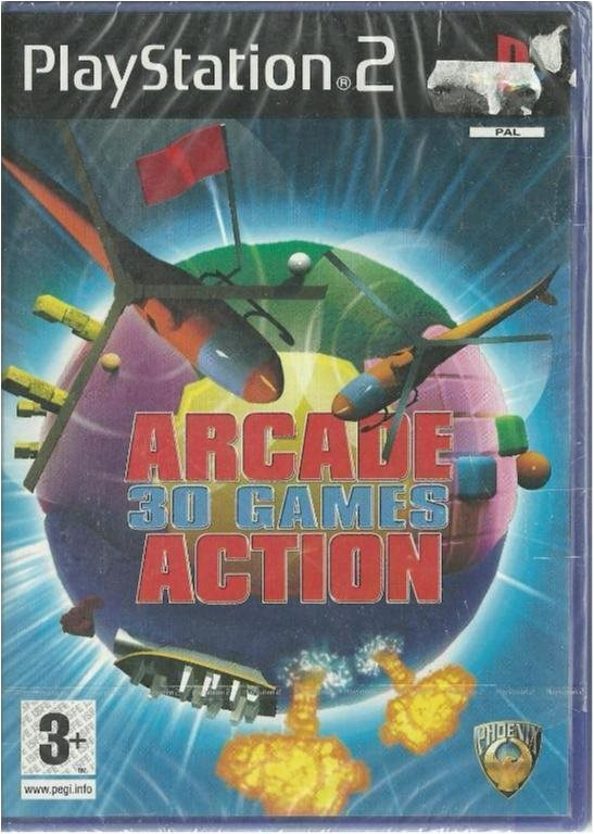 ARCADE -30 GAMES ACTION ( INPLASTAT PS2 SPEL)