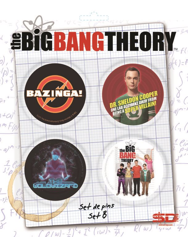 THE BIG BANG THEORY BADGE PIN SET B