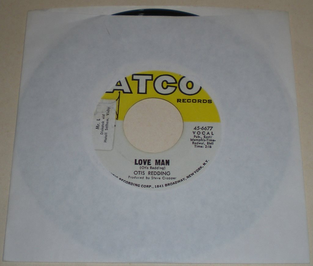 Otis Redding 45a Love man US 1969 VG++