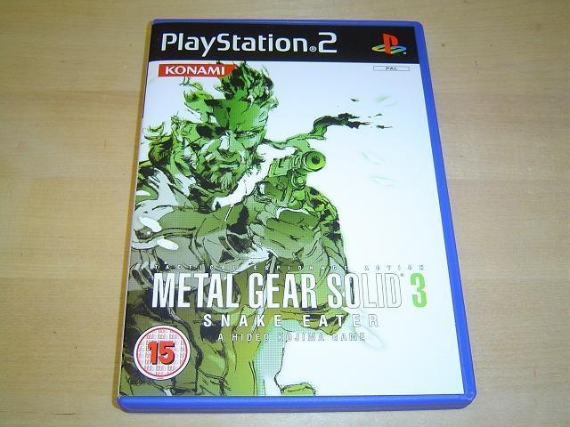 Metal Gear Solid 3 Snake Eater Sony Playstation 2 PS2 PAL *NYTT*