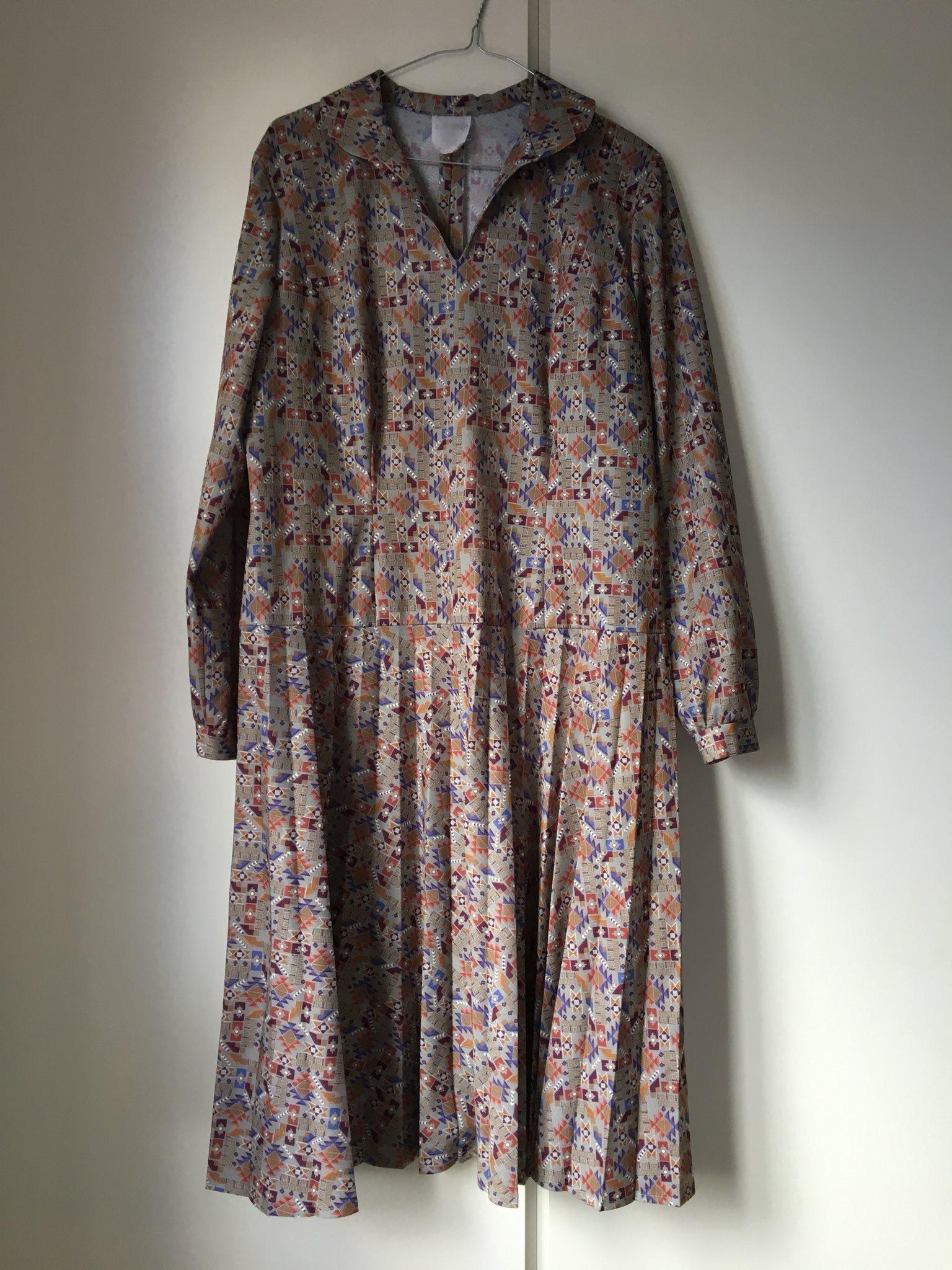 085c1036c960 Etno-mönstrad retro klänning (333292847) ᐈ Köp på Tradera