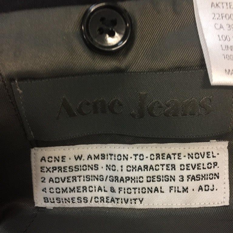 Acne Jeans, Kavaj, Kavaj, Kavaj, Strl: 50, Aktie Short, Mörkblå, Ull df2214