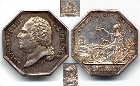 Medalj 1802 france chambre de commerce d 39 amiens p for Chambre de commerce amiens