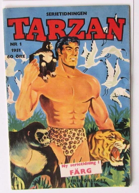 TARZAN 1951 nr 1 förstanummer fin VG-FN