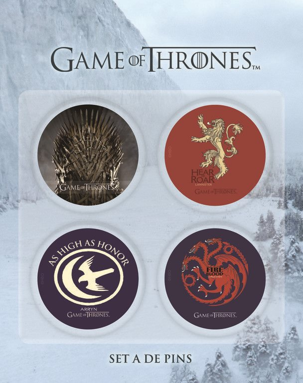 GAME OF THRONES BADGE PINS SET A