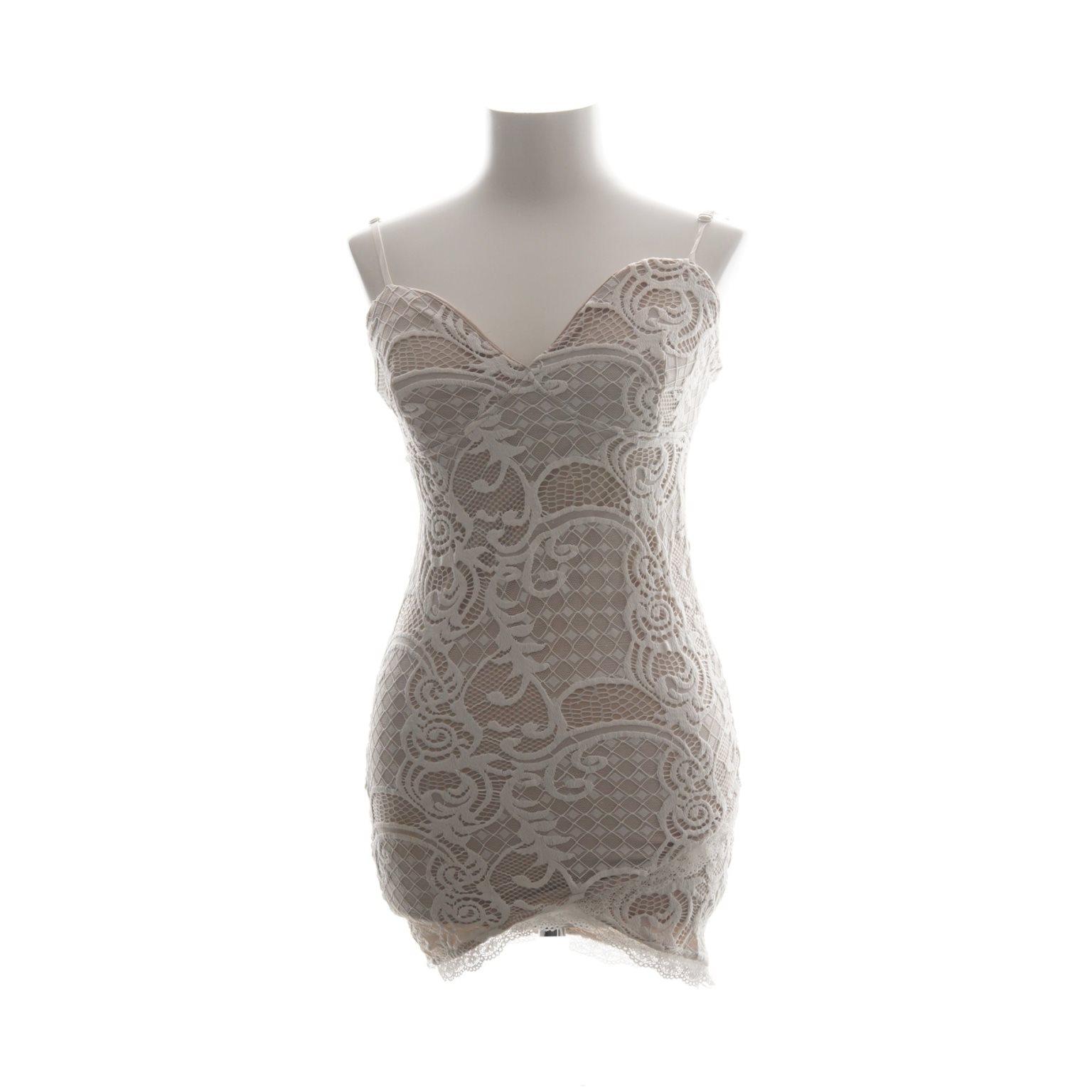 dm retro vit klänning