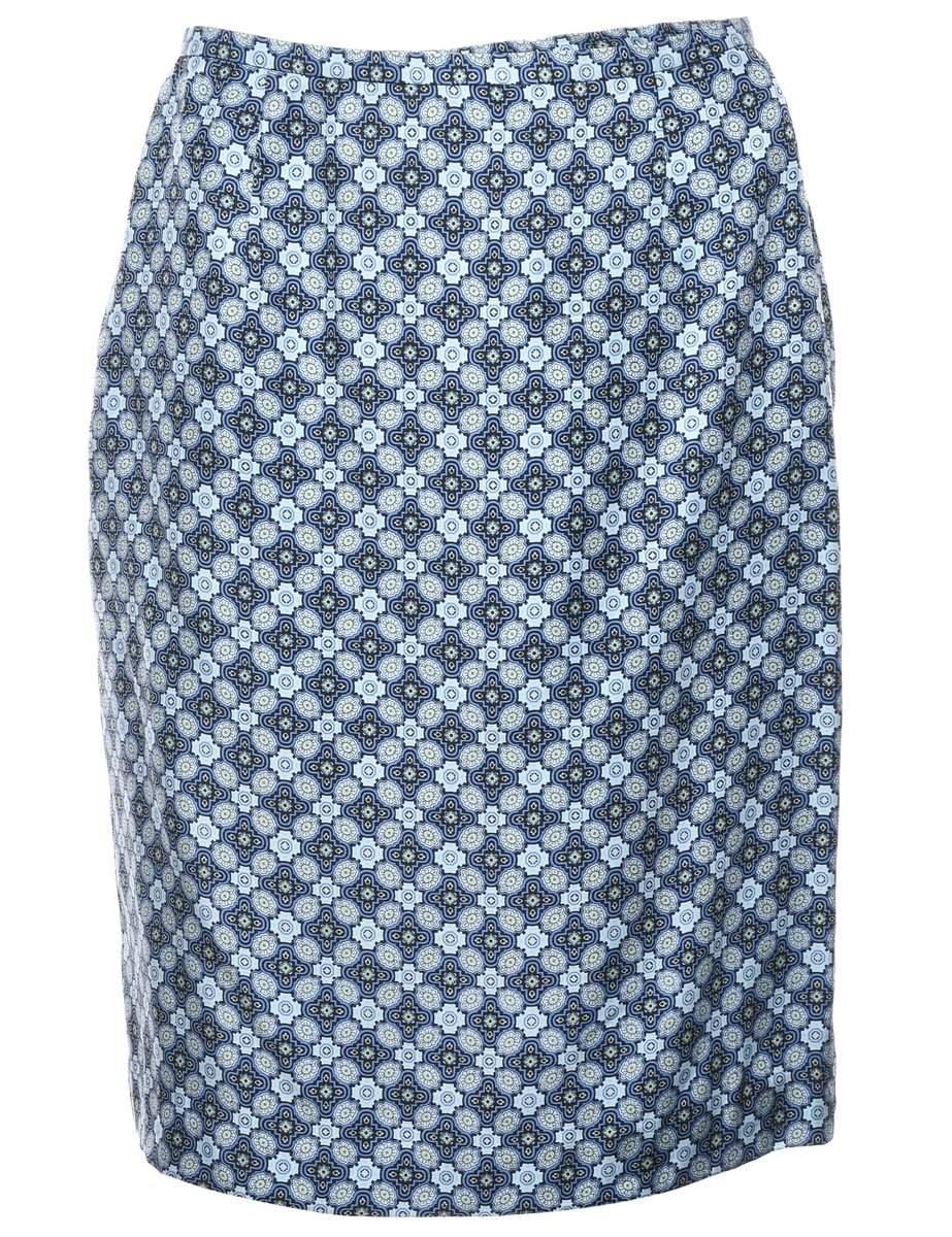 Perfect Silver Silk Vintage Pencil Skirt