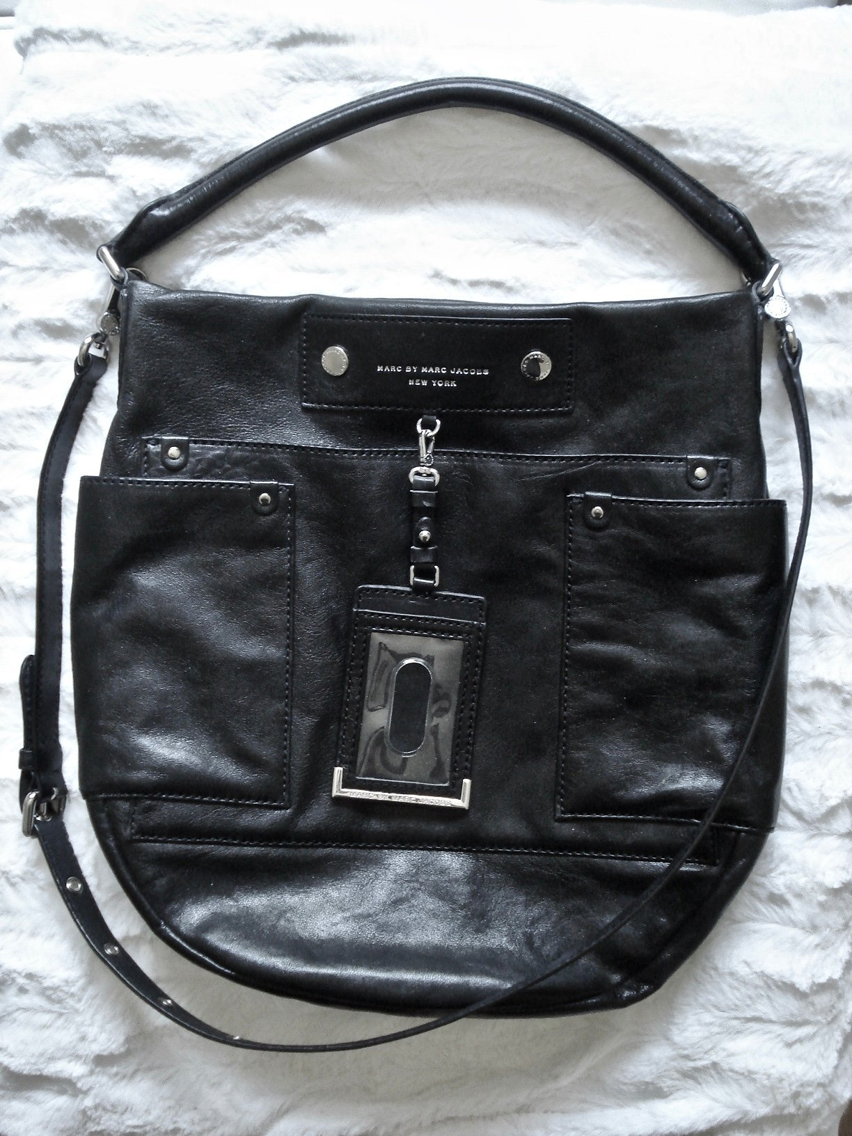 Marc by Marc Jacobs Preppy Hobo Leather Bag! Värde 3.699: ! Kvitto! Oanvänd!