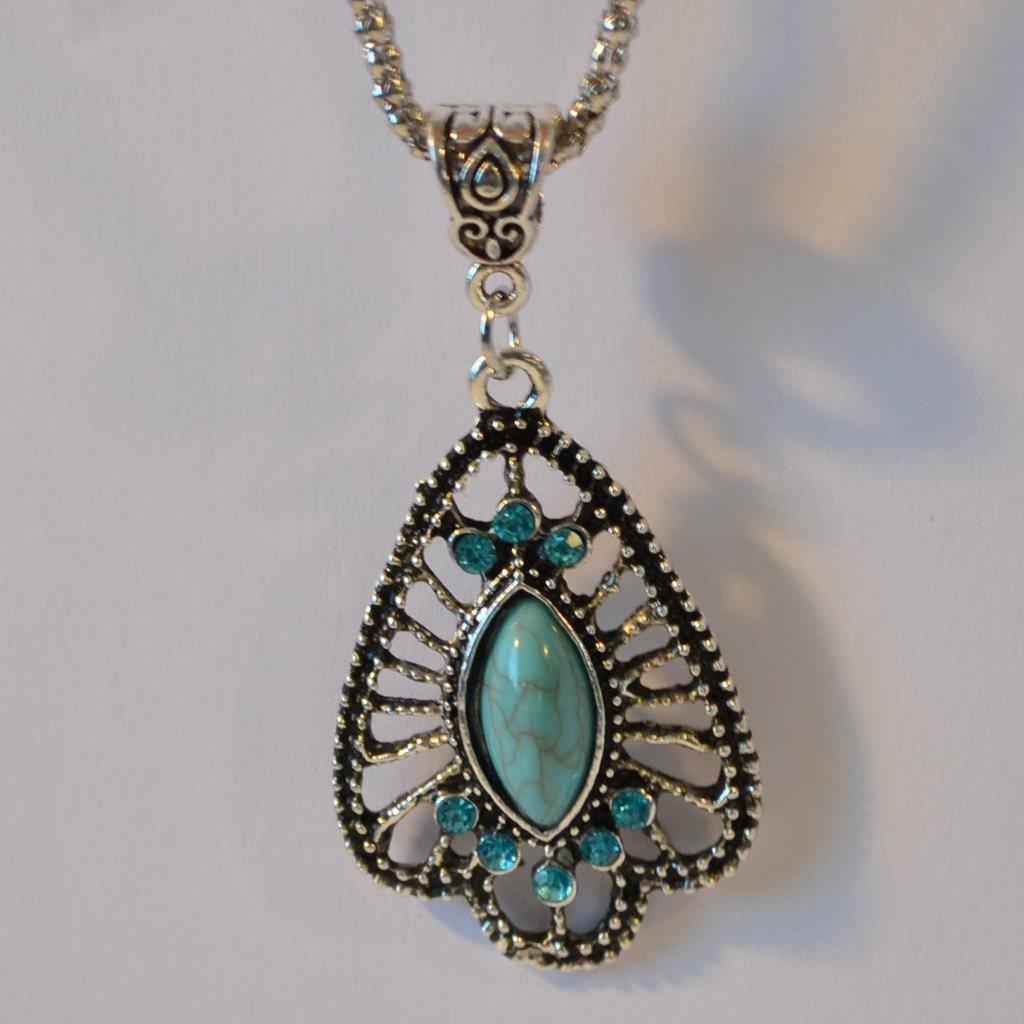 turkos sten halsband