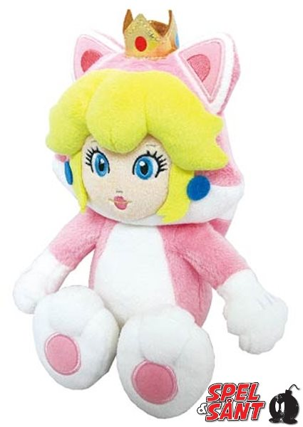 Super Mario 25cm Plush Cat Peach Figur
