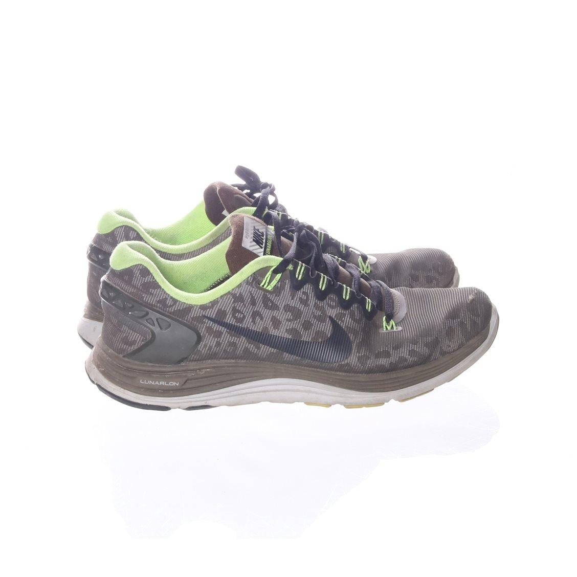 sports shoes 57f92 ce58c Nike, Träningsskor, Strl  42, Lunarglide 5, Brun Limegrön