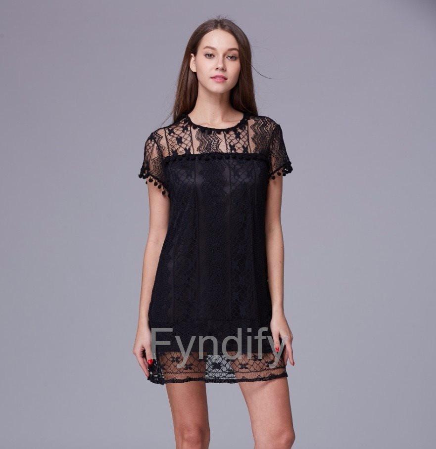 Spetsklänning Sundress Svart 5XL
