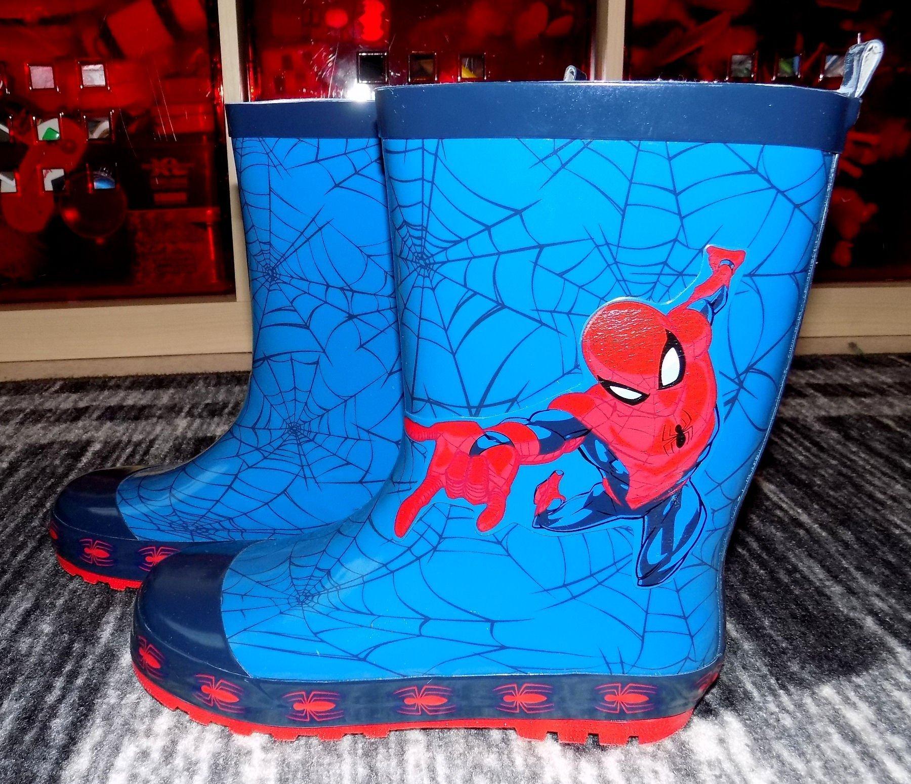 Nya! Jättefina gummistövlar Spiderman Spindelmannen strl 32 (innermått 20,8)