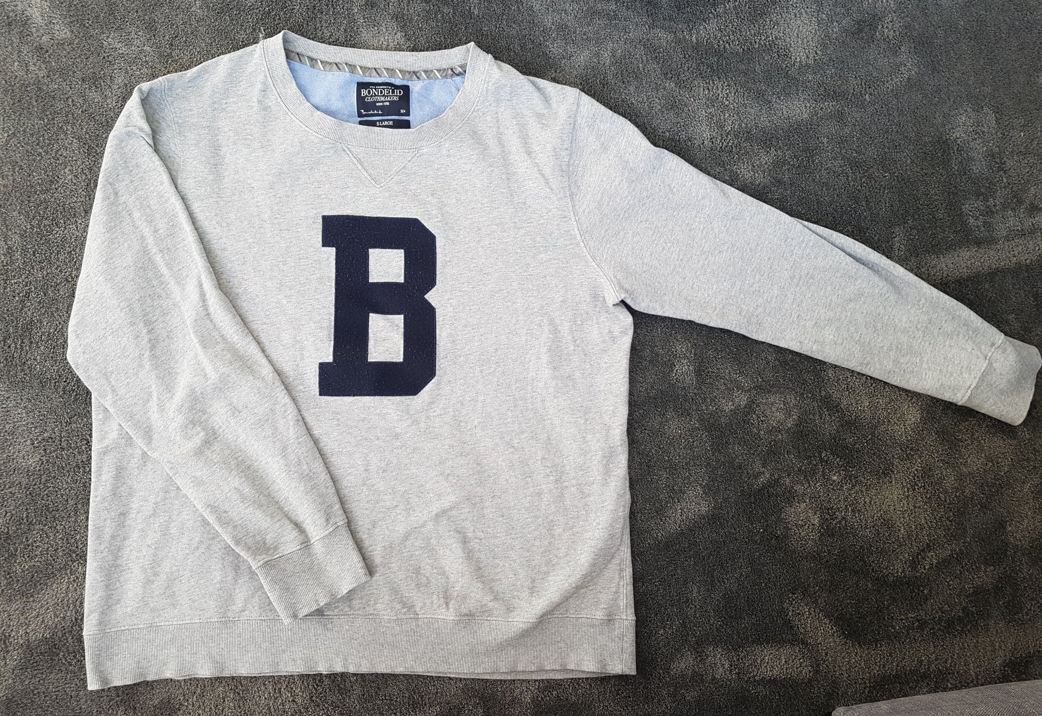 940a481b6c43 Bondelid grå herr tröja xl xlarge (344380140) ᐈ Köp på Tradera