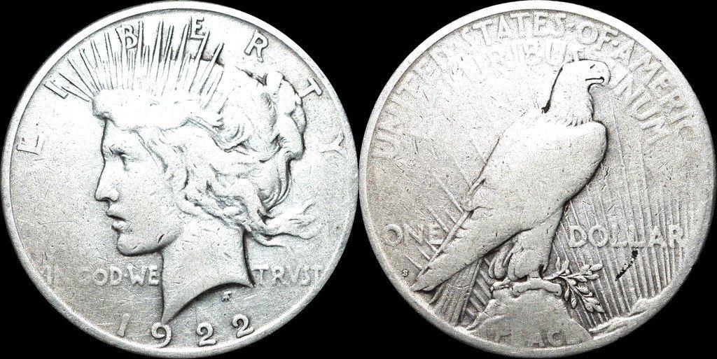 SILVER USA 1 DOLLAR 1922 S 90 % Silver (347314279) ᐈ Köp på Tradera