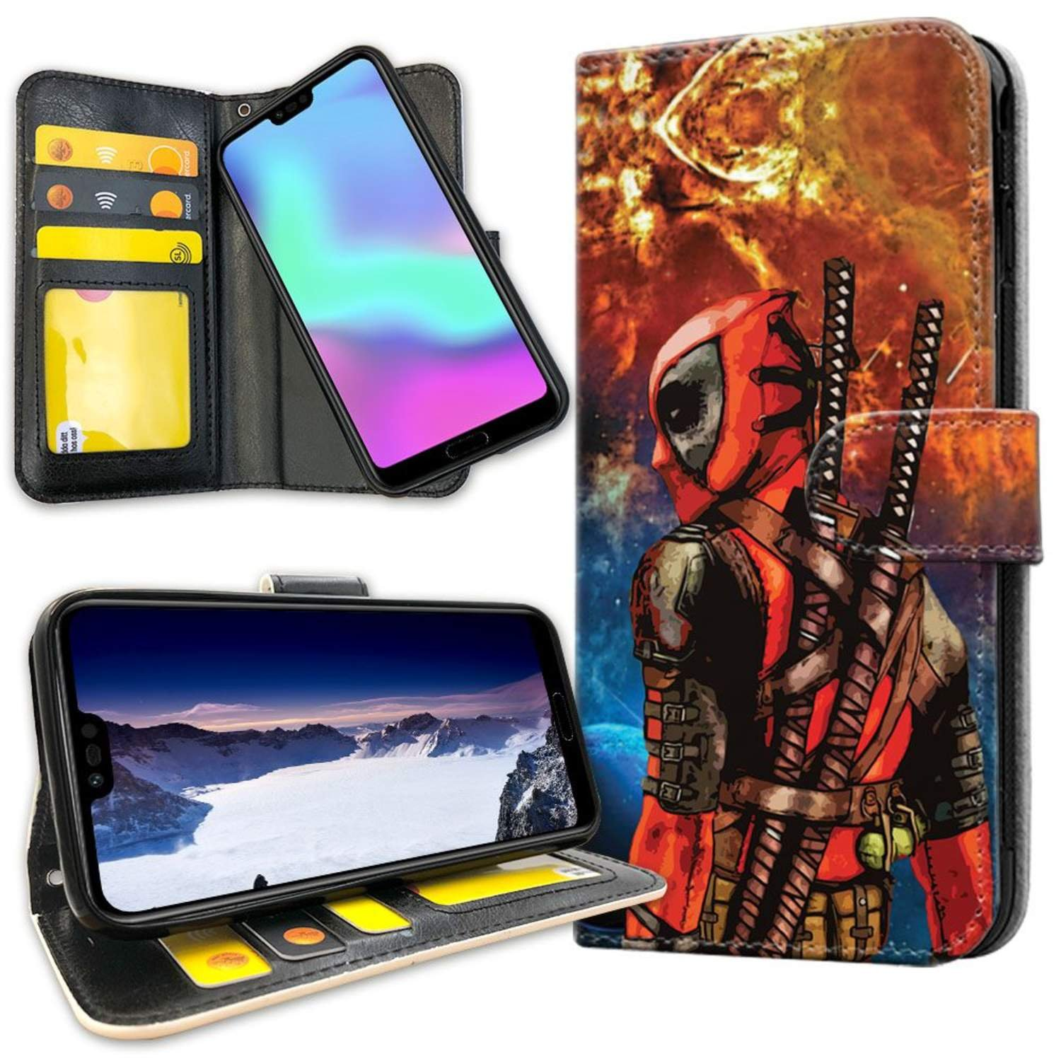 Huawei P30 - Mobilfodral Deadpool Space
