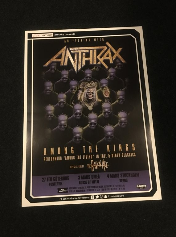 ANTHRAX TURNÉAFFISCH 2017