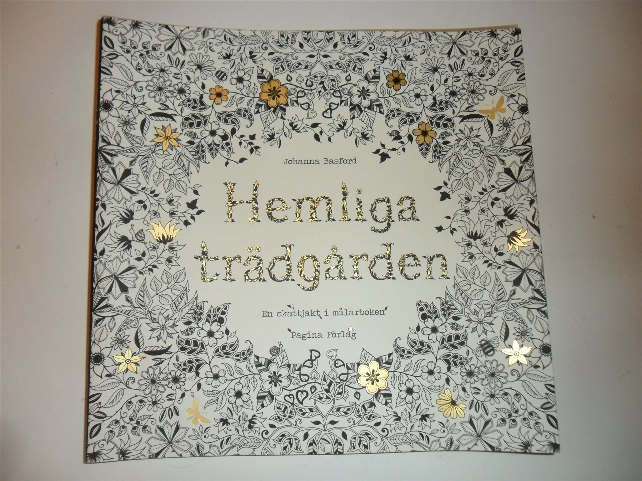 min hemliga trädgård målarbok