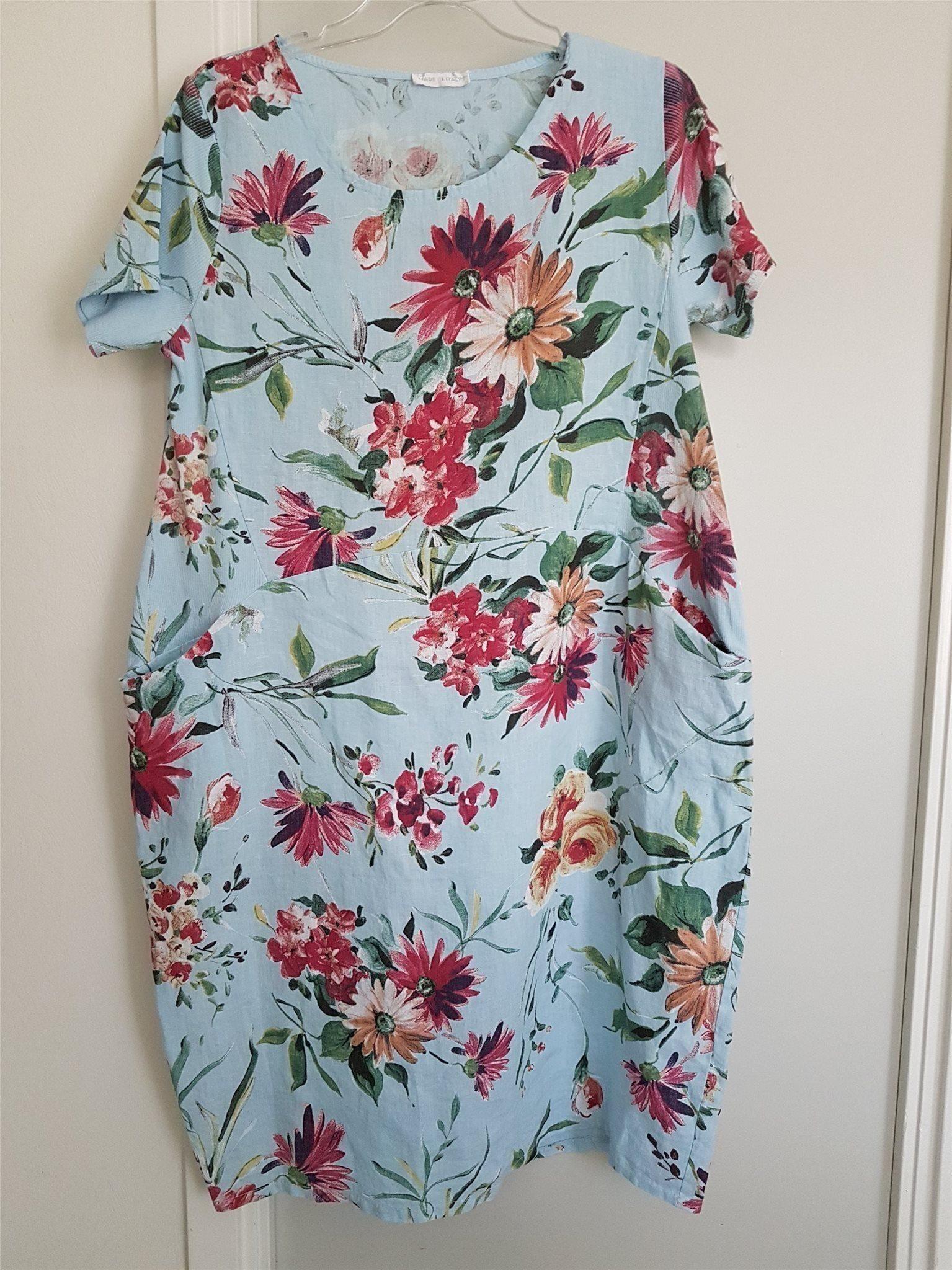 25f9969fa1fb Blå blommönstrad klänning med trikå detaljer.10.. (345639327) ᐈ Köp ...