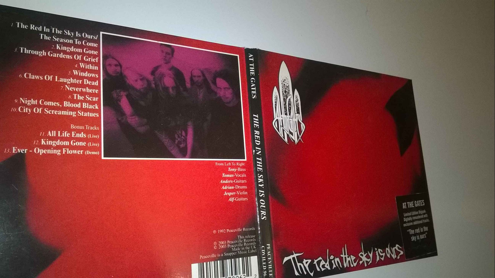 At The Gates - The Red In The Sky Is Ours, CD