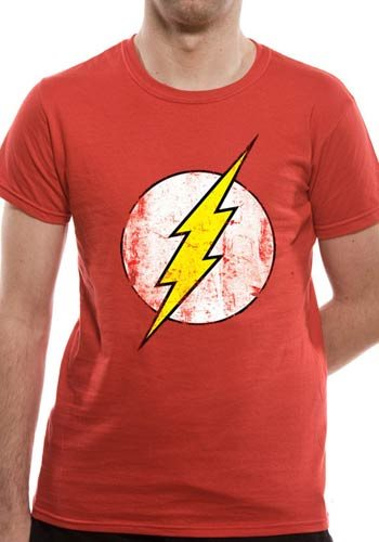 THE FLASH - DISTRESSED LOGO (UNISEX) - Extra-Large