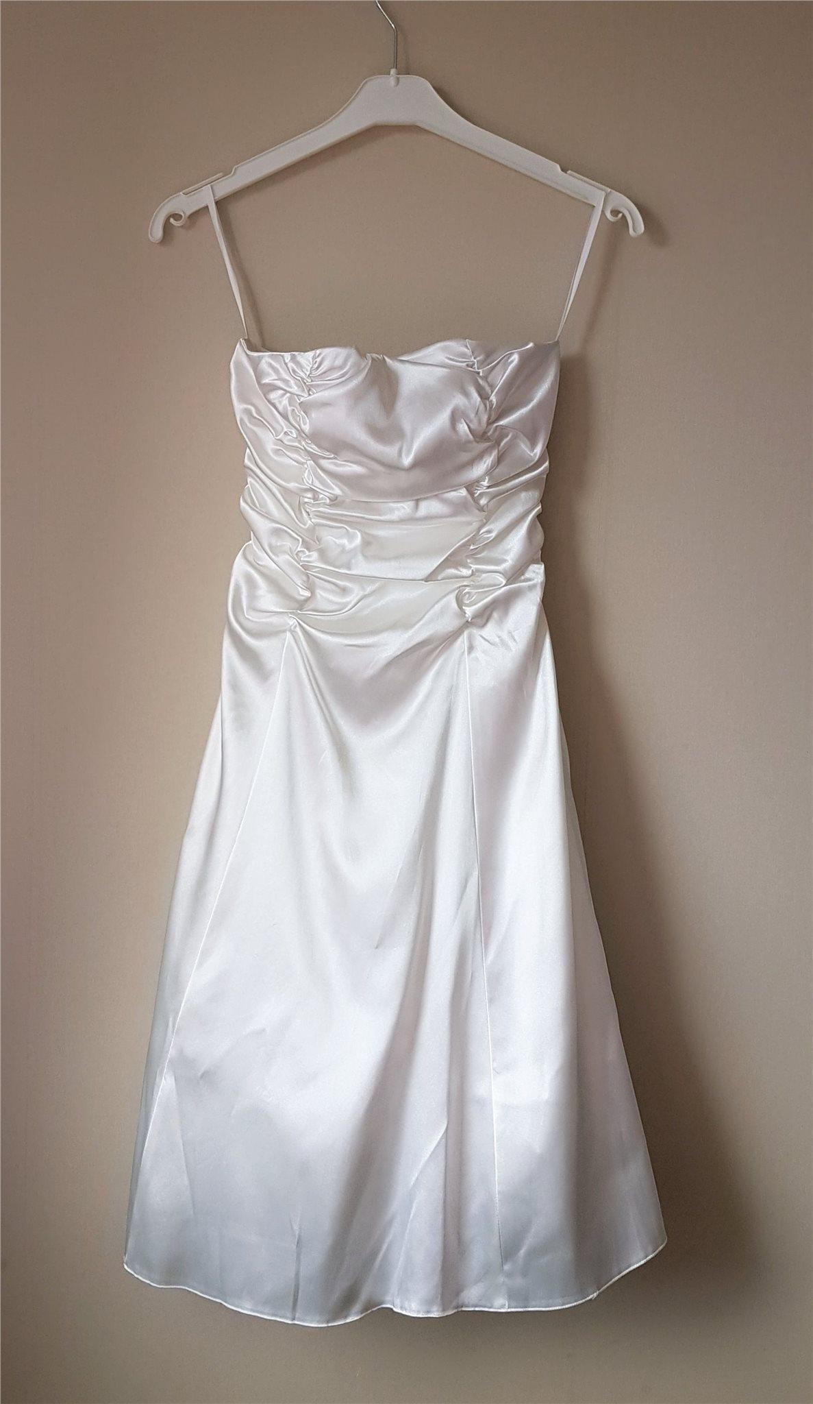 5d277116d4c5 Vit klänning, Nyskick, stl M (S-L), Bröllop, Fe.. (331186190) ᐈ Köp ...