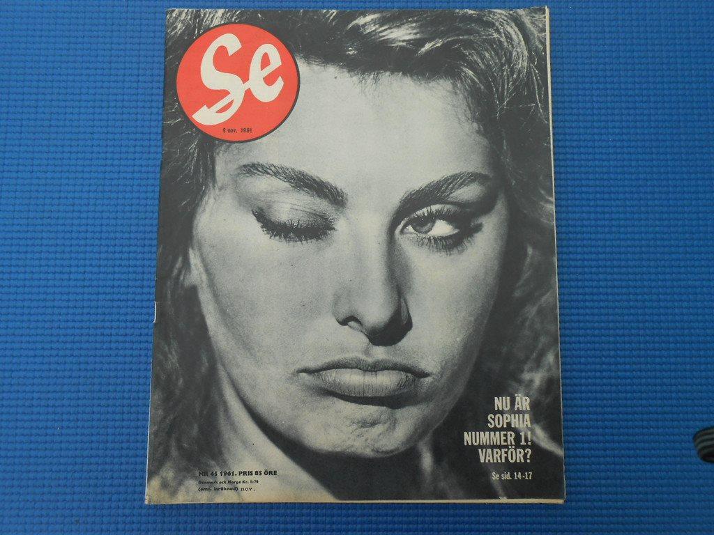 SE nr 45 1961 Sophia Loren Kalle Adolfsson Eda Glasbruk Birgit Nilsson